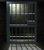 De cel van de gevangenis stock illustratie