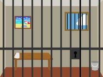 De cel van de gevangenis. stock illustratie