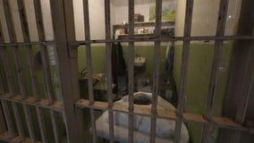 De cel van Doc van de Alcatrazschilder stock video