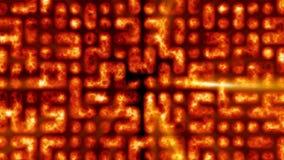 de cel van 1080p loopable abstracte Vurige animatie als achtergrond vector illustratie
