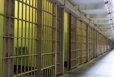 De celbars van de gevangenis Stock Afbeelding