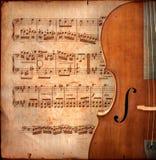 De cello van Anitique Stock Afbeelding