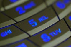 De cellulaire Telefoon verlichtte Sleutel royalty-vrije stock afbeelding