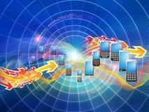 De cellulaire Wereld van de Telefoon Royalty-vrije Stock Foto's