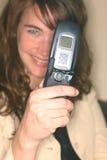 De celtelefoon 1 van de camera stock foto