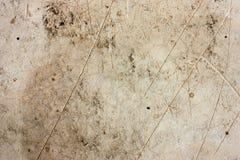 De cementvloeren zijn oud en vuil Royalty-vrije Stock Foto's