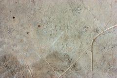 De cementvloeren zijn oud en vuil Royalty-vrije Stock Foto