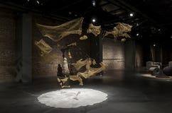 De Ceng Zhushao da escultura concessões 2016 de bolsa de estudos e exposição colocada em lista sucinta dos trabalhos Fotos de Stock Royalty Free