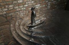 De Ceng Zhushao da escultura concessões 2016 de bolsa de estudos e exposição colocada em lista sucinta dos trabalhos Fotografia de Stock Royalty Free