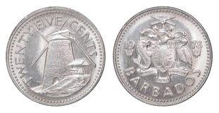De centmuntstuk van Barbados Royalty-vrije Stock Fotografie