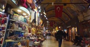 De centrale en grootste stad in de Grote Bazaar, met vele winkels en workshops stock videobeelden