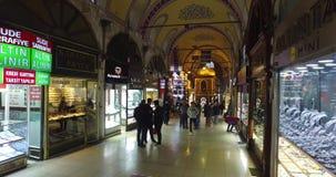 De centrale en grootste stad in de Grote Bazaar, met vele winkels en workshops stock footage