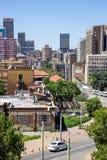 De centrale horizon van Johannesburg stock foto's