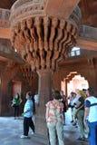 De centrale pijler van diwan-I-Khas in Fatehpur Sikri Royalty-vrije Stock Foto