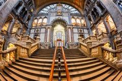 De Centrale Post België van Antwerpen Stock Foto