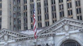 De Centrale Post Detroit 2 van Michigan stock videobeelden