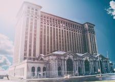 De Centrale Post Detroit van Michigan Royalty-vrije Stock Afbeeldingen