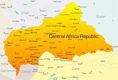 De centrale Republiek van Afrika Stock Afbeeldingen