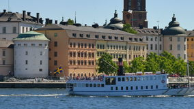 De centrale stad van Stockholm stock footage