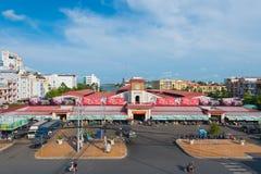 De centrale stadsmarkt, kan Tho-Stad, Vietnam Stock Foto