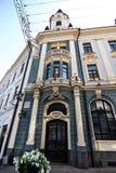 De centrale straat van de stad van Chernovtsy stock afbeeldingen