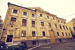 De centrale straat van de stad van Chernovtsy royalty-vrije stock foto