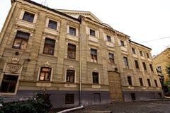 De centrale straat van de stad van Chernovtsy royalty-vrije stock afbeeldingen