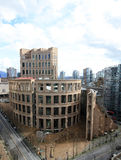 De Centrale Tak van de Openbare Bibliotheek van Vancouver in Vancouver Van de binnenstad Royalty-vrije Stock Foto