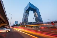 De Centrale Televisie van China (kabeltelevisie) Headquartersï ¼ Œin Peking royalty-vrije stock foto