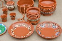 De cerámica hecho a mano rústico Fotos de archivo libres de regalías