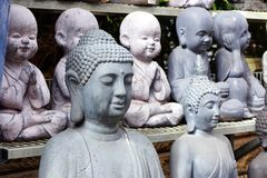 De ceramische Cijfers van Boedha Royalty-vrije Stock Afbeeldingen