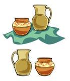 De ceramische Illustratie van het Aardewerk. JPG en EPS Stock Afbeeldingen