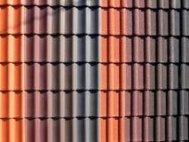 De ceramische textuur van dakwerktegels Royalty-vrije Stock Foto