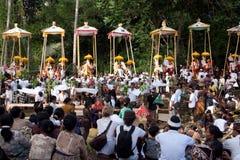 De Ceremonie van de crematie: begrafenis brandstapels Royalty-vrije Stock Foto's