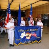 De Ceremonie van de Dag van de vlag Stock Afbeeldingen