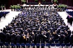 De ceremonie van de graduatie Stock Afbeeldingen