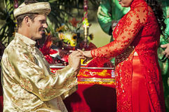De ceremonie van de huwelijksthee Stock Fotografie