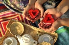 De Ceremonie van de thee. Stock Foto's