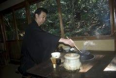 De ceremonie van de thee, Tokyo, Japan Stock Foto's