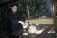 De ceremonie van de thee, Tokyo, Japan Stock Afbeeldingen