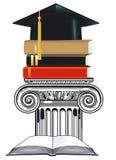 De ceremonie van Gradiation en het sluiten stock illustratie