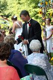 De ceremonie van het huwelijk royalty-vrije stock afbeelding