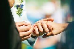 De ceremonie van het huwelijk Royalty-vrije Stock Fotografie