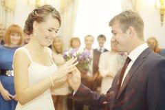 De ceremonie van het huwelijk Stock Afbeeldingen