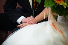 De ceremonie van het huwelijk Stock Foto