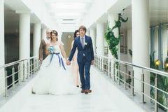 De ceremonie van het huwelijk Stock Afbeelding
