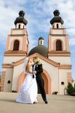 De ceremonie van het huwelijk in kerk Royalty-vrije Stock Foto