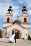De ceremonie van het huwelijk in kerk Royalty-vrije Stock Afbeelding