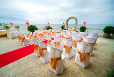 De ceremonie van het huwelijk in openlucht Royalty-vrije Stock Afbeeldingen