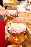 De ceremonie van het Huwelijk van Thail Stock Afbeelding
